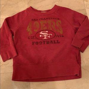 Junk Food Clothing Shirts & Tops - BabyGap x Junk Food 49ers Sweatshirt
